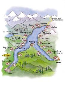 Karte Comer See
